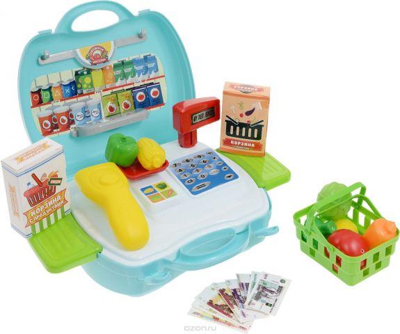 ABtoys Игровой набор Чудо-чемоданчик Овощной магазин 23 предмета