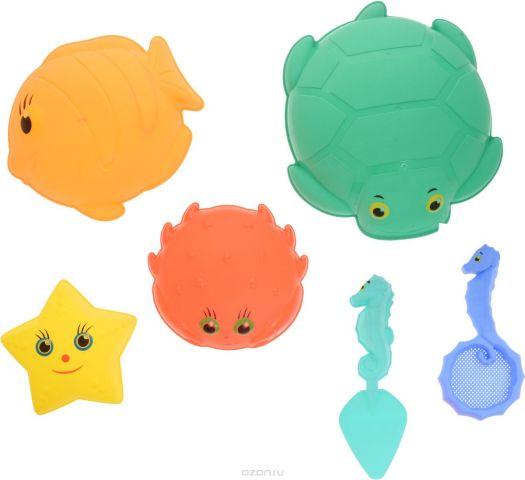 ABtoys Набор игрушек для песочницы Лучик 6 предметов