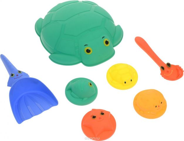 ABtoys Набор игрушек для песочницы Лучик 7 предметов PT-00690