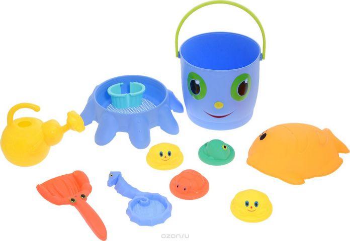 ABtoys Набор игрушек для песочницы Лучик 11 предметов PT-00686