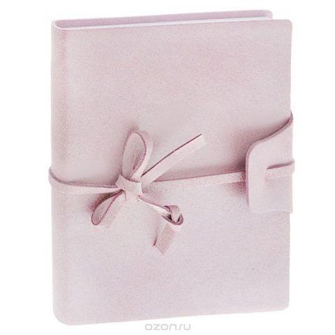 Brunnen Тетрадь Бижу на завязках 160 листов формат А6 цвет розовый