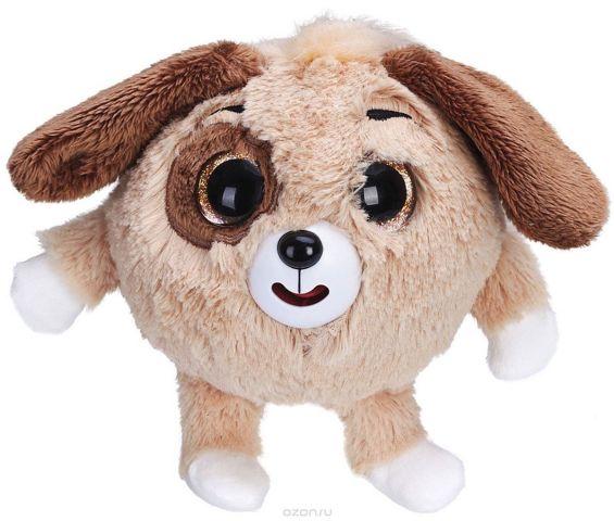 1TOY Мягкая озвученная игрушка Дразнюка-Zooка Собачка цвет коричневый 13 см