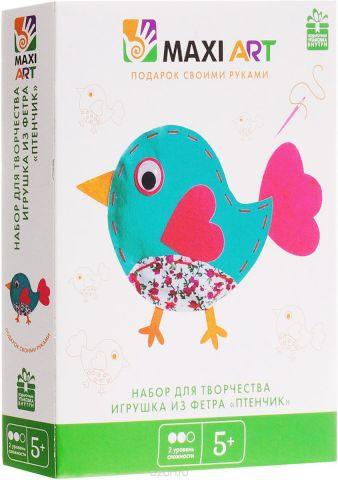 Maxi Art Набор для творчества Игрушка из фетра Птенчик