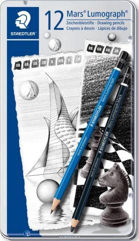 Staedtler Набор чернографитовых карандашей Mars Lumograph 100 12 шт 100G12S1