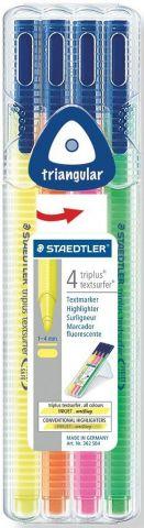 Staedtler Набор текстовыделителей Triplus Textsurfer 362 4 цвета
