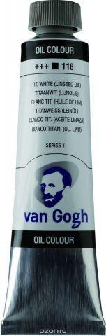 Royal Talens Краска масляная Van Gogh цвет 118 Белила титановые 40 мл