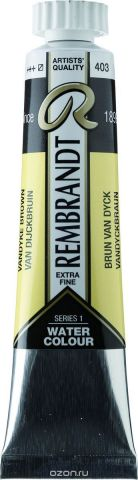 Royal Talens Акварель Rembrandt цвет 403 Ван-Дик коричневый 20 мл