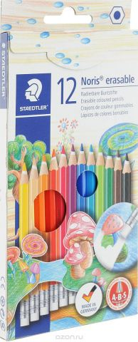 Staedtler Набор цветных карандашей Noris Club с ластиком 12 цветов