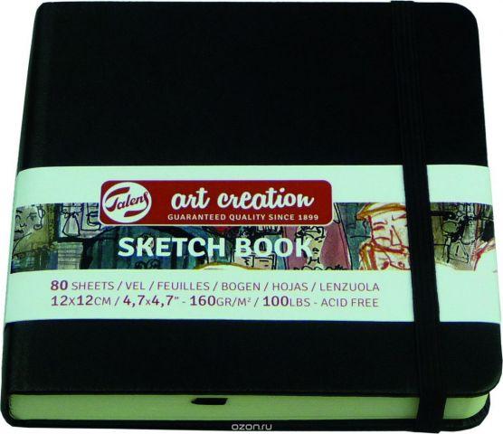 """Блокнот для зарисовок Royal Talens """"Art Creation"""", цвет: черный, 80 листов, 9314004M"""