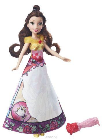 Disney Princess Кукла Бель в юбке с проявляющимся принтом