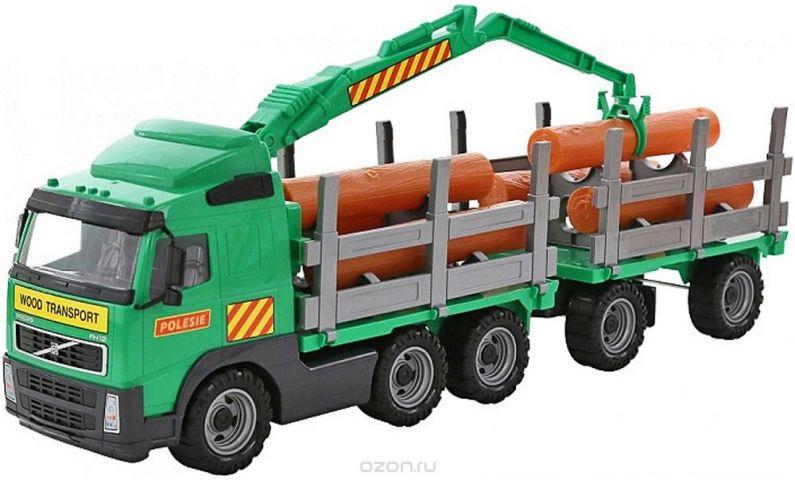 Полесье Лесовоз с прицепом Volvo цвет зеленый