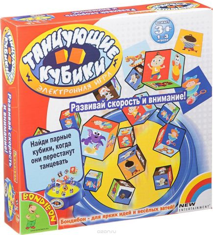Bondibon Настольная игра Танцующие Кубики
