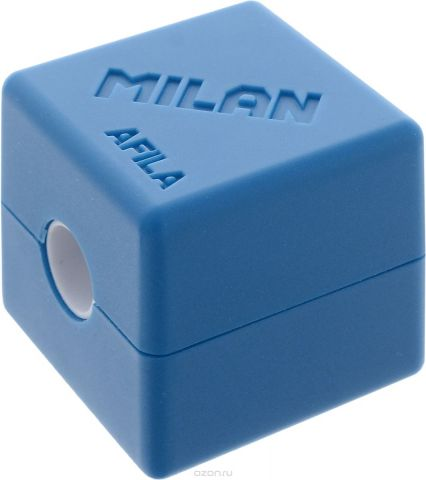 Milan Точилка Cubic с контейнером цвет синий