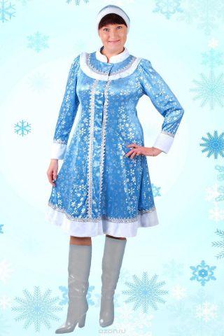 """Карнавальный костюм Страна Карнавалия """"Снегурочка"""", цвет: голубой. Размер 46"""