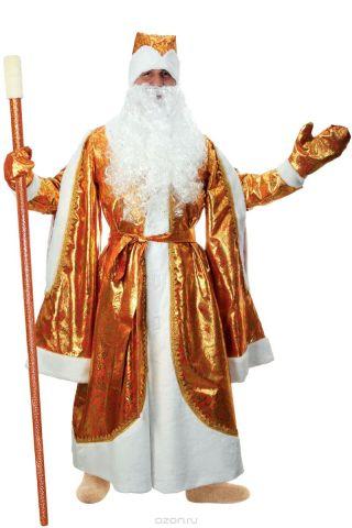 """Карнавальный костюм Страна Карнавалия """"Дед Мороз"""", цвет: золотой. Размер 48/50"""