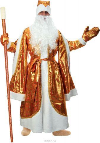 """Карнавальный костюм Страна Карнавалия """"Дед Мороз"""", цвет: золотой. Размер 52/54"""
