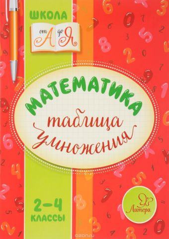 Математика. 2-4 классы. Таблица умножения