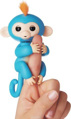 Fingerlings Интерактивная игрушка Обезьянка Борис цвет синий 12 см