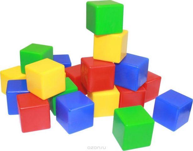 Пластмастер Набор мини-кубиков 4х4 см 20 шт