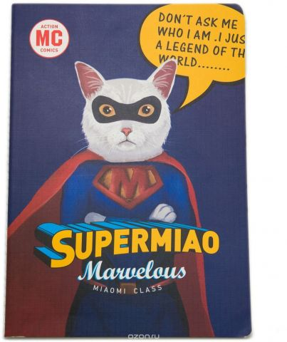 Еж-стайл Тетрадь Supermiao Superman 38 листов в линейку