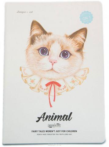 Еж-стайл Тетрадь Animal Cat 1 44 листа в линейку