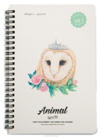 Еж-стайл Тетрадь Animal Owl 3 A5 68 листов в линейку