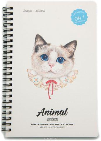 Еж-стайл Тетрадь Animal Cat 1 A5 68 листов в линейку