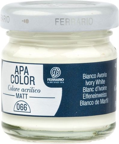 Ferrario Краска акриловая Apa Color цвет белила (телесные)