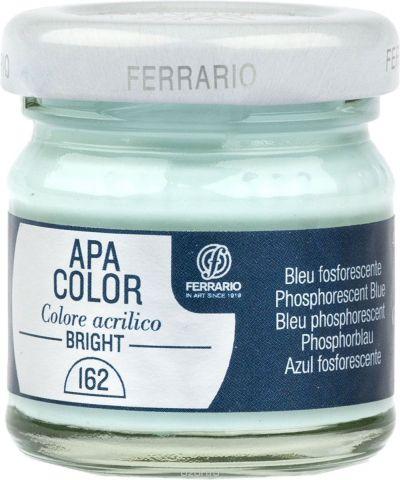 Ferrario Краска акриловая Apa Color цвет синий флуоресцентный