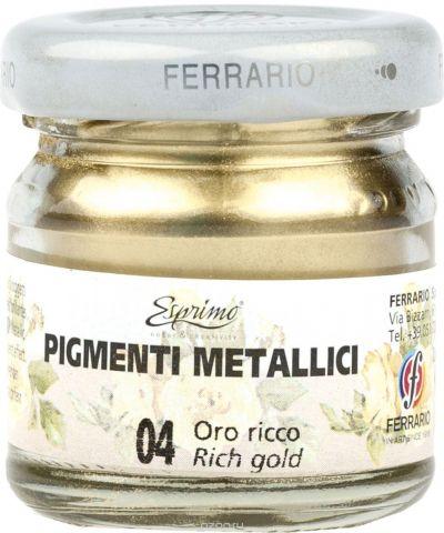 Ferrario Пигмент металлик цвет 004 богатое золото 25 мл