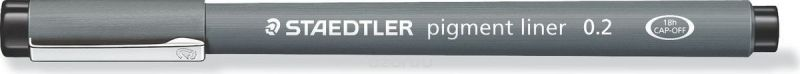 Staedtler Ручка капиллярная Pigment Liner 0,2 мм цвет чернил черный