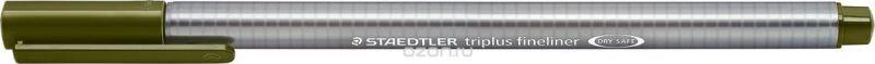 Staedtler Ручка капиллярная Triplus 334 0,3 мм цвет чернил зеленый оливковый