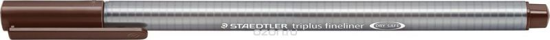 Staedtler Ручка капиллярная Triplus 334 0,3 мм цвет чернил коричневый табачный