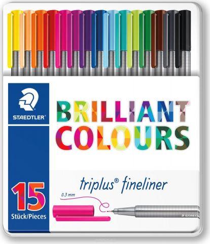 Staedtler Ручка капиллярная Triplus 334 15 цветов