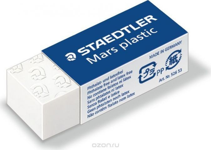 Staedtler Ластик Mars Plastic цвет белый