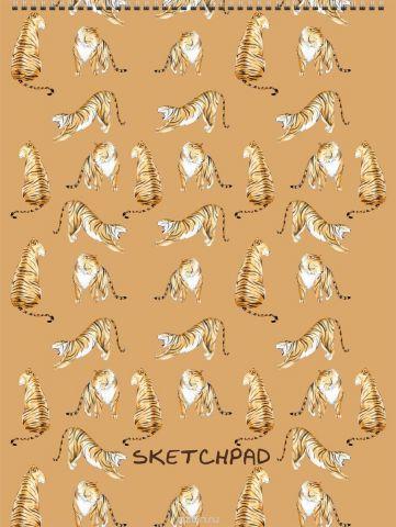 Канц-Эксмо Скетчпад Грациозные тигры 40 листов формат А4
