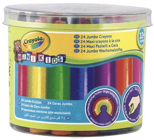 """Восковые мелки Crayola """"Для самых маленьких"""", 24 цвета"""