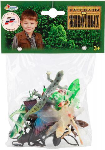 Играем вместе Набор фигурок Рептилии и насекомые 5 см 12 шт