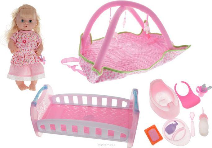 Yako Кукла цвет платья розовый с аксессуарами