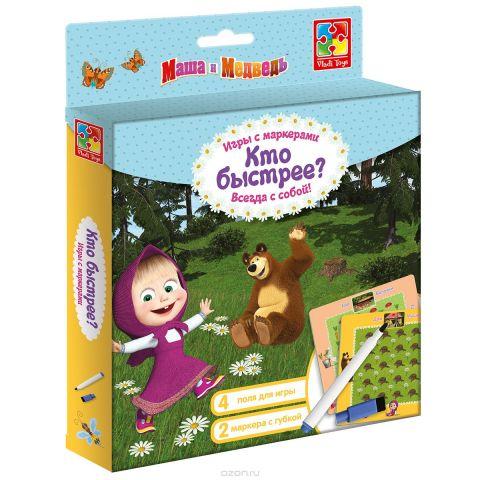 Vladi Toys Игра с маркером Маша и Медведь Кто быстрее