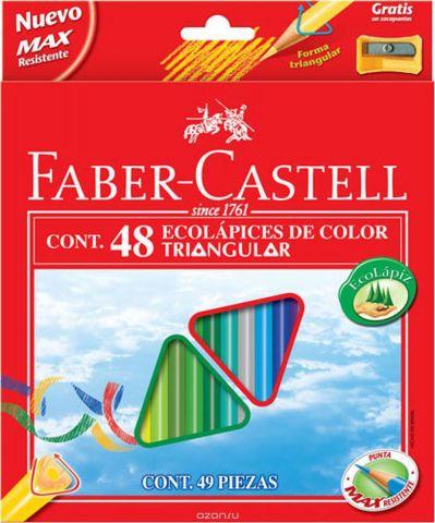 Faber-Castell Набор цветных карандашей Eco с точилкой 48 шт