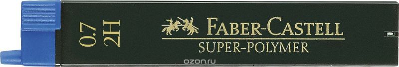 Faber-Castell Грифель для механического карандаша Superpolymer 2H 0,7 мм 12 шт