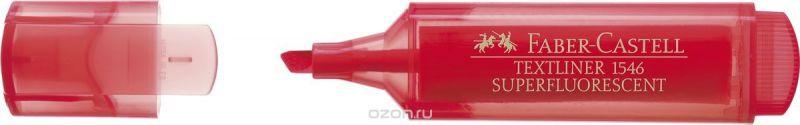 Faber-Castell Текстовыделитель 1546 флуоресцентный цвет красный