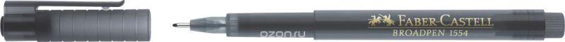 Faber-Castell Ручка капиллярная Broadpen 1554 цвет чернил серый