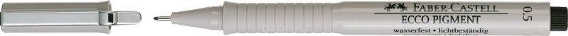 Faber-Castell Ручка капиллярная Ecco Pigment 0,5 мм цвет чернил черный