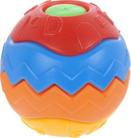 Junfa Toys Развивающая игрушка Мячик цвет голубой оранжевый красный