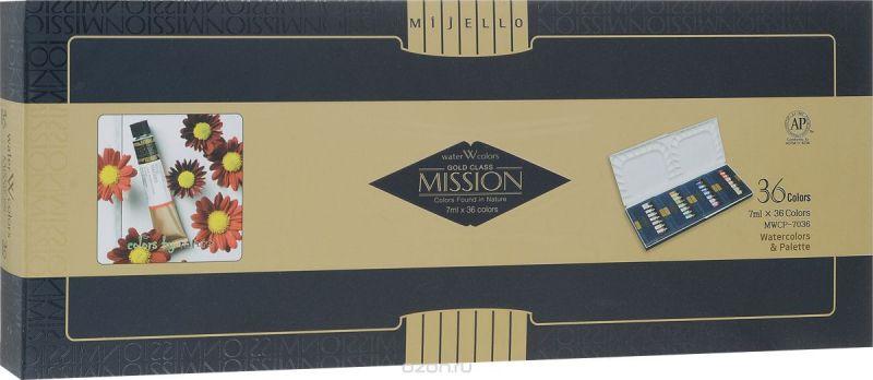 Mijello Набор акварели Mission Gold с палитрой 7 мл 36 цветов MWCP-7036