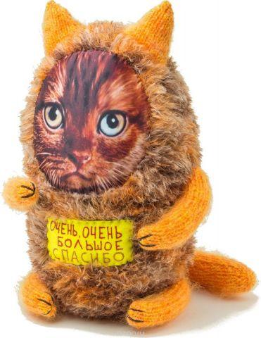 """Мягкая игрушка Бюро находок """"Котик. Очень-очень большое спасибо"""", цвет: оранжевый"""