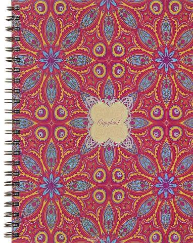 Канц-Эксмо Тетрадь Драгоценные узоры 96 листов в клетку цвет красный