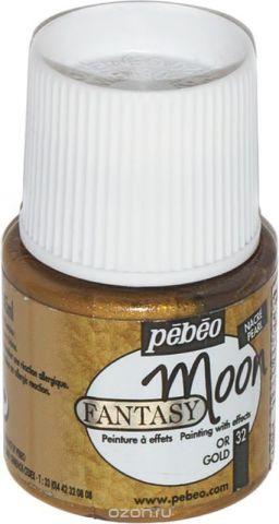Pebeo Краска Fantasy Moon с фактурным эффектом цвет 167032 под золото 45 мл